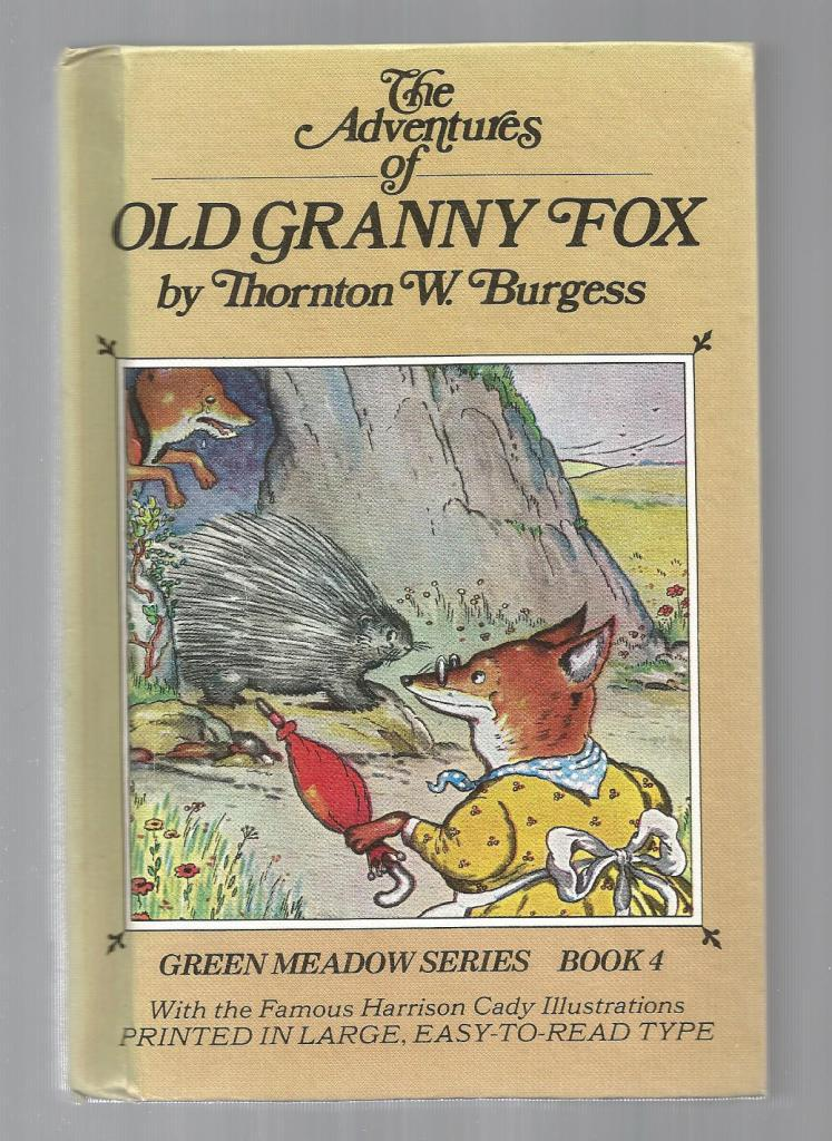 Old Granny Fox w Burgess Museum Sticker HB/PC, Burgess, Thornton W.