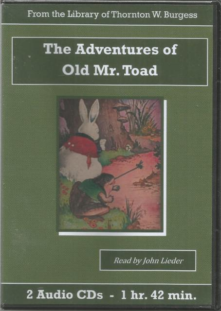 The Adventures of Old Mr. Toad Thornton Burgess Audiobook CD Set, Thornton W. Burgess