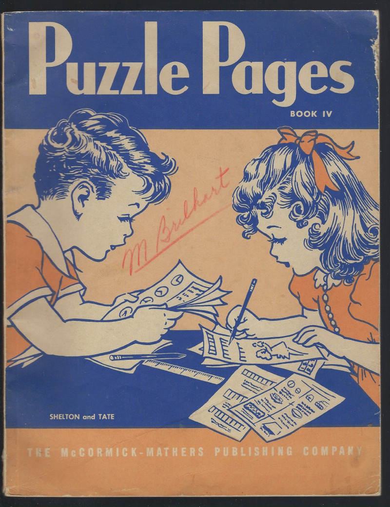 Puzzle Pages Book 4 (IV) 1944, Shelton, Fredonia & Lottie L. Tat