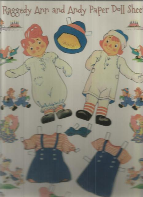 Raggedy Ann and Andy Paper Doll Sheets, B. Shackman Company [Editor]