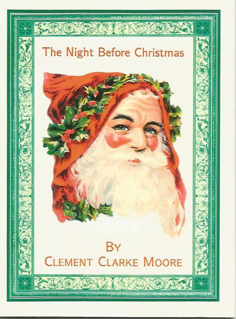 The Night Before Christmas 1849 Reproduction Clement Clarke Moore, Clement Clarke Moore