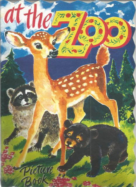 At The Zoo Picture Shape Book (Large Softcover Book), George Trimmer [Illustrator]