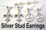 GC silver stud earrings