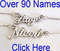 Silver Name Necklaces