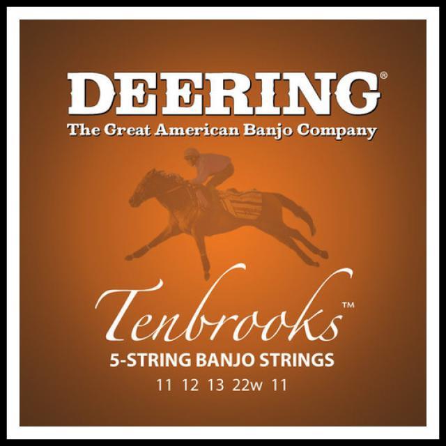 Deering-Tenbrooks-5-String-Banjo-Strings-11-22-Made-in-USA-Set-of-5-strings